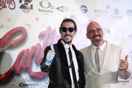 Spanish Actor Oscar Jaenada (l) and Mexican Filmmaker Sebastian Del Amo (r) Pose on the Red Carpet at the Premiere of 'Cantinflas' in Mexico City Mexico 09 September 2014 the Movie on Late Mexican Comedian and Actor Mario Alfonso Moreno Aka 'Cantinflas' Opens in Mexican Theaters on 19 September Mexico Mexico City