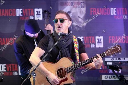 Venezuelan Singer Franco De Vita Performs During a Press Conference in Mexico City Mexico 16 December 2013 De Vita Presented His New Album 'Vuelve En Primera Fila' Which Features Some of His Big Hits Mexico Mexico City