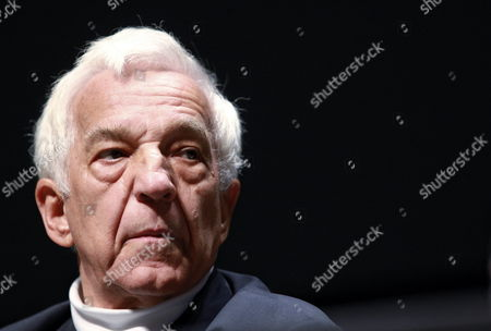 Stock Picture of London's Philharmonic Orchestra Director Russian Born Pianist Vladimir Ashkenazy Talks During a Press Conference Prior to Two Concerts at the National Center of Fine Arts and National Auditorium in Mexico City Mexico 08 September 2014 Mexico Mexico City
