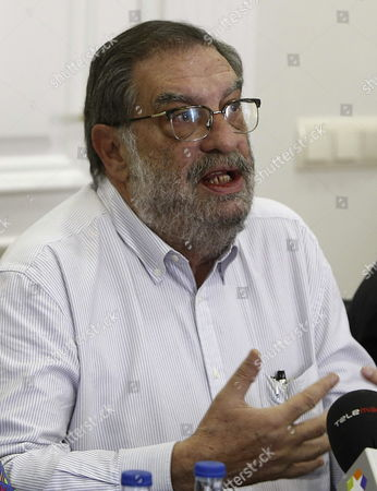 Spanish Producer and Former Chairman of the Spanish Cinema Academy Enrique Gonzalez Macho Addresses the Media During a Press Conference Explaining the Reasons For His Resignation to the Post in Madrid Spain 20 February 2013 Spain Madrid