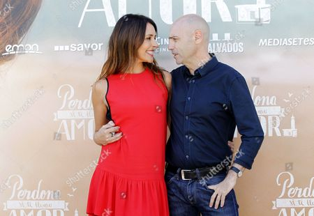 Spanish Actress/cast Member Patricia Vico (l) and Spanish Director Joaquin Llamas (r) Pose During a Photocall For 'Sorry if i Call You Love' (perdona Si Te Llamo Amor) in Madrid Spain 16 June 2014 the Movie is Based on the Homonymous Novel by Italian Writer Federico Moccia Spain Madrid