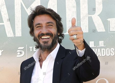 Italian Actor/cast Member Daniele Liotti Gives a Thumb Up During a Photocall For 'Sorry if i Call You Love' (perdona Si Te Llamo Amor) in Madrid Spain 16 June 2014 the Movie is Based on the Homonymous Novel by Italian Writer Federico Moccia Spain Madrid