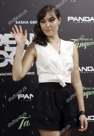 Us Actress Sasha Grey Poses For Photographers During the Presentation of 'Open Windows' in Madrid Spain 30 June 2014 the Movie Will Open in Spanish Theaters on 04 July Spain Madrid