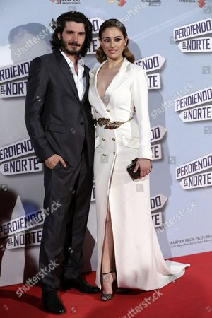 Spanish Actors/cast Members Blanca Suarez (r) and Yon Gonzalez (l) Arrive For the Premiere of 'Perdiendo El Norte' in Madrid Spain 05 March 2015 the Movie Opens in Spanish Cinemas on 06 March Spain Madrid