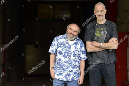 British Filmmakers Andy Hamilton (l) and Guy Jenkin (r) Pose For the Photographer During the Presentation of Their Movie 'What We Did on Our Holiday' at the 59th Valladolid International Film Festival (seminci) in Valladolid Spain 24 October 2014 the Festival Runs From 18 to 25 October Spain Valladolid