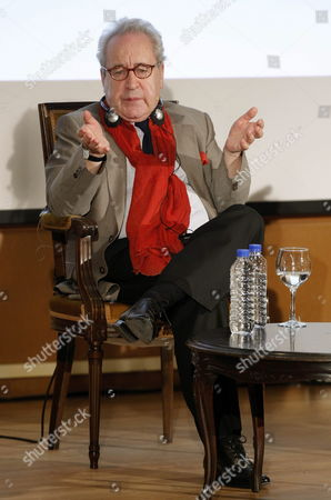 Irish Writer John Banville Talks During a Conference at Oviedo University in Oviedo Asturias Northern Spain 23 October 2014 Banville is in the Spanish City to Receive the 2014 Prince of Asturias Award For Literature During a Ceremony That Will Take Place on 24 October Spain Oviedo