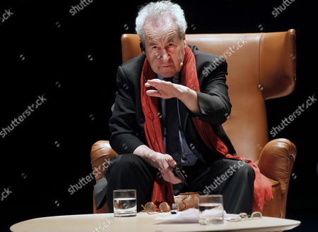 Irish Writer John Banville During a Conference Entittle 'Sentences in Black and White' at the Jovellanos Theatre in Oviedo Northern Spain 22 October 2014 Banville is in the Spanish City to Attend the 2014 Prince of Asturias Awards Ceremony on Next 24 October Banville Won 2014 Prince of Asturias Award For Literature For His 'Smart Deep and Original Fictional Creation' Spain Oviedo