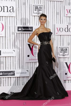 Venezuelan Model Stefania Fernandez Miss Universe 2009 Poses Upon Arrival to the Yo Dona Gala in Madrid Spain 24 June 2014 where She Received the Best Humanitarian Labor Award Spain Madrid