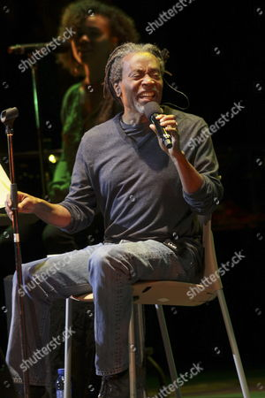 Us? Singer and Composer Bobby Mcferrin Performs on Stage During His Granada?s Dance and Music International Festival Concert at Generalife Theatre in Granada Southern Spain on 06 July 2014 Spain Granada