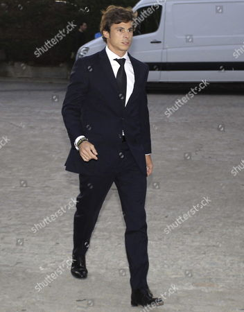 Stock Picture of Widower Rodrigo Garcia Millan Arrives For the Funeral of Late Spanish Formula One Test Driver Maria De Villota at the Dominican Church of Madrid Spain 15 October 2013 Maria De Villota Spain's First and Only Female Formula One Driver was Found Dead in a Hotel in Seville on 11 October 2013 Police Said Spain Madrid