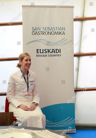 Northern Irish Chef and Chef Patron at Restaurant 'Gordon Ramsay' Clare Smyth Poses For the Media on the First Day of the 15th San Sebastian Gastronomika - Euskadi Basque Country Congress at Kursaal Congress Palace in San Sebastian Northern Spain 07 October 2013 This Year London and Its Metropolitan Cuisine Are the Guests of the Congress Running From 06 to 09 October Spain San Sebastián