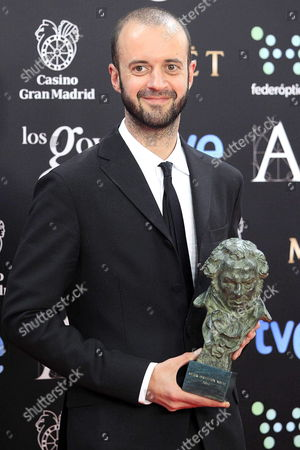 Spanish Director Fernando Franco Poses For the Media After Receiving His 'Best New Director' Goya Award For the Film 'La Herida' During the 28th Goya Awards Awarding Ceremony in Madrid Spain 09 February 2014 Spain Madrid