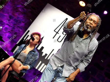 Us? Singer Bobby Mcferrin (r) Performs on Stage During His Jazz Festival Concert at the Trinidad Square in San Sebastian Northern Spain on 24 July 2014 Spain San Sebastißn