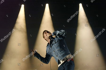 British Band 'Kaiser Chiefs' Singer Ricky Wilson Performs on Stage During the 'Low Festival' Closing Concert in Benidorm Alicante Spain 27 July 2014 Spain Benidorm