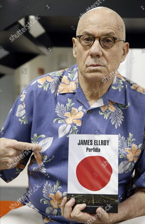 Us Writer James Ellroy Poses For Photographers As He Presents His Book 'Perfidia' in Madrid Spain 14 April 2015 Perfidia is a Novel Set in Los Angeles During World War Ii Spain Madrid