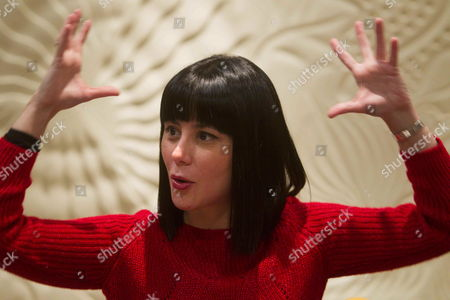 Stock Image of Cuban Writer Wendy Guerra Gestures at the Presentation of Her New Novel 'Negra' (black) in Barcelona Spain 17 December 2013 the Story is About Nirvana Del Risco the First Black Cuban Heroine That Fought Against Racialist and Sexual Prejudices in Her Culture Spain Barcelona