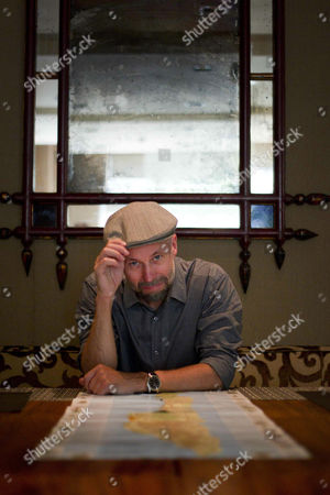 Stock Image of Swedish Author Johan Theorin Poses For Photographs During an Interview with Spanish News Agency Efe to Promote the Spanish Edition of His Novel 'The Oeland Quartet 4' in Barcelona Spain 22 June 2014 the Crime Novel Closes His Tetralogy Book Series Set on the Swedish Island of Oeland Spain Barcelona