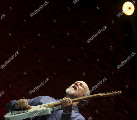 Us Guitarist and Composer John Scofield Performs on Stage During His Concert at the 49th San Sebastian Jazz Festival Northern Spain 25 July 2014 the Festival Runs Until 27 July Spain San Sebastian