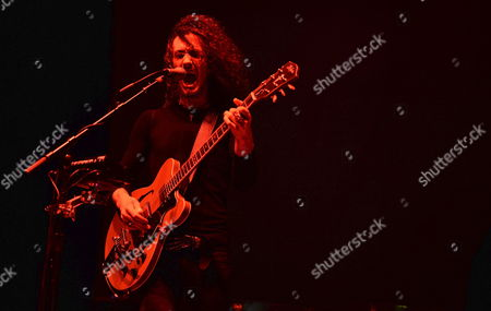 British Blues Guitarist Oli Brown Performs on Stage in the Axerquia Theatre As Part of the Cordoba Guitar Festival in Cordoba Southern Spain 12 July 2014 Spain Cordoba