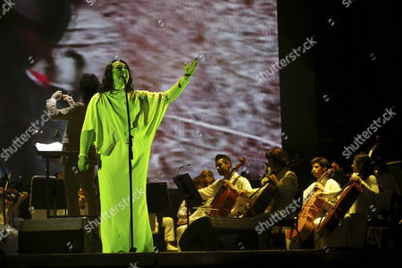 Frontman of Us Band 'Antony and the Johnsons' Antony Hegarty (l) Performs During the First Day of the Primavera Sound Music Festival at Parc Forum of Barcelona Spain 28 May 2015 Primavera Sound Will Run From 28 to 30 May Spain Barcelona