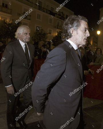 Alfonso Diaz the Widower of Cayetana Fitz-james Stuart Duchess of Alba (r) and the Son of Duchess of Alba Alfonso (l) Arrive to Attend a Funeral Mass For the Duchess at the Valle's Church in Seville Andalusia Spain 01 December 2014 the Spanish Aristocrat Died Aged 88 at Home on 20 November After a Short Illness Spain Sevilla