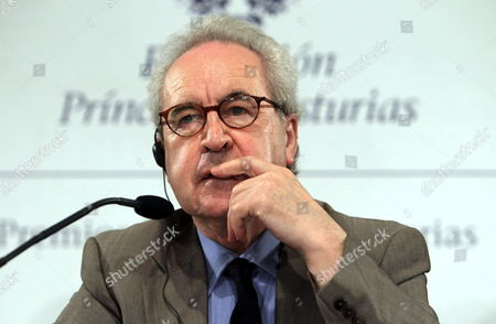 Irish Writer John Banville Addresses a Press Conference in Oviedo Northern Spain 22 October 2014 Banville is Recipient of the 2014 Prince of Asturias Award For Literature and Will Attend the Awarding Ceremony on 24 October Spain Oviedo