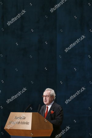 Irish Writer John Banville Speaks After Receiving the 2014 Prince of Asturias Award For Literature From the Spanish King During the 2014 Prince of Asturias Awards Ceremony at the Campoamor Theatre in Oviedo Spain 24 October 2014 the Prizes Are Presented Annually by the Prince of Asturias Foundation to International Individuals Entities Or Organizations who Make Important Achievements in Sciences Humanities and Public Affairs Spain Oviedo