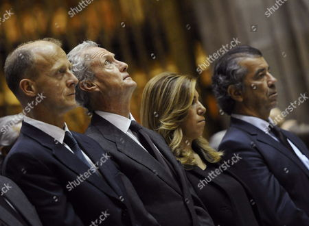Stock Picture of (l-r) Airbus' President Tom Enders Spanish Minister of Defence Pedro Morenes Andalusia's Acting President Susana Diaz and Head of Airbus Military Aircraft Division Fernando Alonso Attend the Funeral For the Victims of Crashed Airbus A400m Test Flight in Seville Southern Spain 12 May 2015 on 09 May 2015 an Airbus A400m Crashed Killing Four Crew Members Spain Sevilla