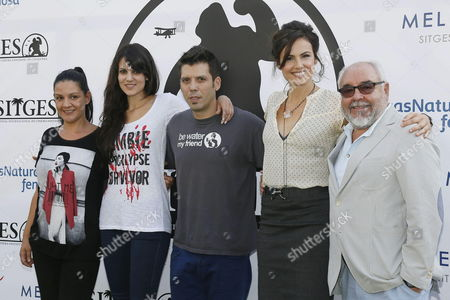 (l-r) Executive Producer Sandra Fernandez Actress Claudia Bassols Film Director Manuel Carballo Actress Melina Matthews and Producer Julio Fernandez Pose For the Media During the Presentation of Their Film 'The Returned' at the 46th Sitges International Fantastic Film Festival in Sitges Outside Barcelona Spain 18 October 2013 the Festival Runs From 11 to 20 October Spain Barcelona