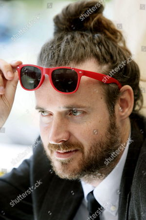 Stock Image of Us Film Maker Mike Cahill Looks on During a Press Conference For His Movie 'I Origins' at the 47th Sitges Film Festival in Sitges Outside Barcelona North-eastern Spain 05 October 2014 Sitges Film Festival Runs From 03 to 12 October 2014 Spain Sitges (barcelona)