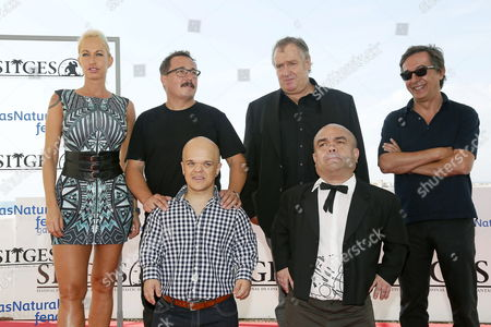 Porn Star/cast Member Sophie Evans (l) Spanish Film Maker Sergio Caballero (2-l Back) Composer Pedro Alcalde (r) and Actors/cast Members Alberto Martinez (l-front) Roland Olbeter (r-front) and Michal Lagos (2-r Front) Pose During the Photocall of 'La Distancia' (the Distance) at the 47th Sitges Film Festival in Sitges Outside Barcelona North-eastern Spain 05 October 2014 Sitges Film Festival Runs From 03 to 12 October 2014 Spain Sitges (barcelona)