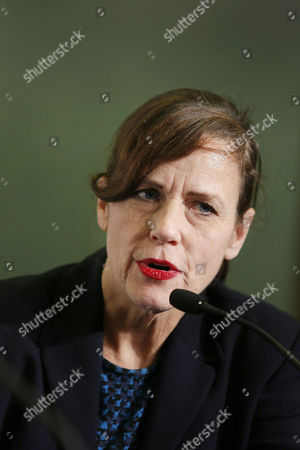 Us Producer Linda Moran Attends a Press Conference For 'Cold in July' at the 47th Annual Sitges International Fantastic Film Festival in Sitges Outside Barcelona Spain 07 October 2014 the Festival Runs From 03 to 12 October Spain Sitges (barcelona)