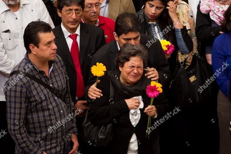 Stock Picture of Venezuelan Late Leader Hugo Chavez' (1999-2013) Mother Elena Frias De Chavez (c) Participates in One of the Events Marking the Second Anniversary of His Death in Caracas Venezuela 05 March 2015 the Commemoration Acts Started with Fire Works and Events All Around the Country Venezuela Caracas
