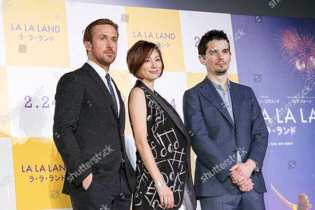 Ryan Gosling, Ryoko Yonekura and Damien Chazelle