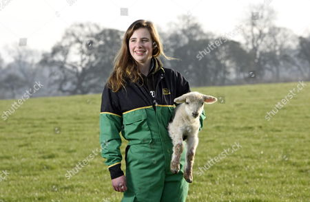 Pictured: Student Emily Smith with a lamb at Sparsholt College, near Winchester