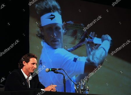 Argentinean Tennis Player David Nalbandian Speaks in Buenos Aires Argentina 01 October 2013 Nalbadian Announced in the Capital That He Will Retire After Facing Spanish Nadal in the Exhibition Match Due to Be Held on 23 November 2013 in Argentina Argentina Buenos Aires