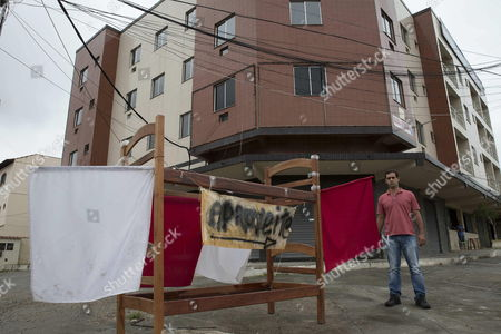 Marcos Paulo Pires E Silva 33 Owner of a Hostel Puts Up Its Furniture For Sale to Pay Its Employees Due to a Crisis in the City of Itaborai in the Brazilian State of Rio De Janeiro Brazil 22 April 2015 the Construction and Jobs Brought by the Discovery of the Giant Offshore Fields by State-run Oil Company Petrobras Have Been Suspended in the Wake of the Corruption Scandal Brazil Itaborai