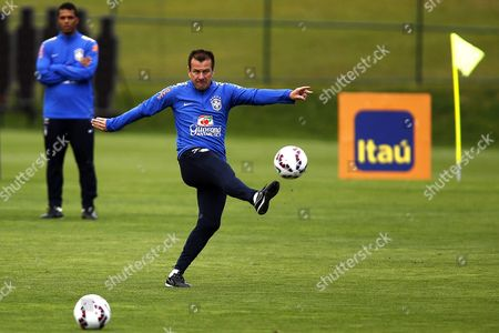 Brazilian National Soccer Team Head Coach Carlos Dunga Performs During His Team's Training Session in Teresopolis Brazil 03 May 2015 Brazil Will Face Peru in the Copa America Group C Match on 14 June 2015 in Chile Brazil Teresopolis