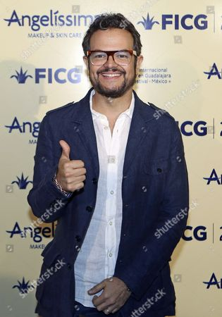 Mexican Singer Aleks Syntek Poses Upon His Arriving at the Premiere of the Movie 'Cantinflas' During International Guadalajara Film Festival in Guadalajara Mexico Late 24 March 2014 Jaenada is the Star in Cantinflas the Movie About the Mexican Legend Actor and Humorist the Film Festival Runs From 21 to 30 March Mexico Guadalajara