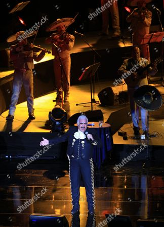 Mexican Singer Vicente Fernandez Performs During His Concert at the National Auditorium in Mexico City Mexico 10 September 2014 As Part of a Series of Concerts For His Farewell Tour Mexico Mexico City