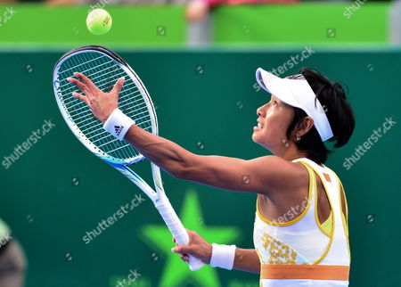 Japanese Kimiko Date in Action Against Serbian Jovana Jaksic During the Semifinal Match of the Monterrey Open Tennis in Mexico 05 April 2014 Mexico Monterrey