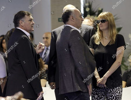 Former Head Coach of Spain's National Soccer Team Jose Antonio Camacho (l) Arrives to Express His Condolences to Sofia Di Stefano (r) Daughter of Argentine Soccer Legend Alfredo Di Stefano at the Funeral Chapel Set Up at the Santiago Bernabeu Stadium in Madrid Spain 08 July 2014 the Club's Honorary President Died on 07 July 2014 at the Age of 88 After Suffering a Heart Attack Spain Madrid