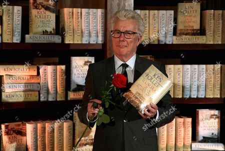 British Novelist Ken Follet Poses with a Rose Holding His Book 'Edge of Eternity' During an Act Held in Barcelona Catalonia Spain 22 April 2015 on the Eve of the World Book Day in the Region of Catalonia is Popular to Celebrate the 23rd April Known As San Jordi's Day (saint George's Day) Giving a Rose Or a Book to Their Relatives Or Friends Spain Barcelona