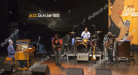 Us Musician Booker T Jones (l) and His Booker T and the M G 'S Band Perform on Stage at the San Javier Jazz Festival in San Javier Murcia Province Eastern Spain 12 July 2014 Spain San Javier