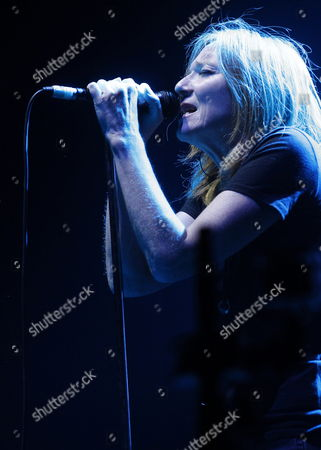 British Singer Beth Gibbons of the Band Portishead Performs on Stage During Their Concert at Sports Palace in Madrid Spain 18 July 2014 Spain Madrid