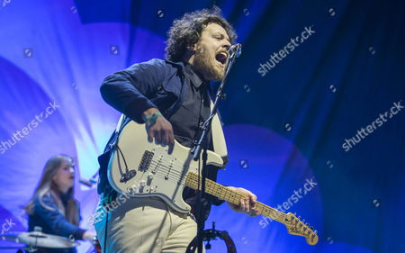 British Singer Joseph Mount From the Group Metronomy Perfoms on Stage During the Estrella Levante Sos 4 8 Feastival Celebrated at the Fica Fairgrounds in Murcia Spain 01 May 2015 Spain Murcia
