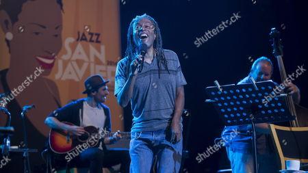 Us Singer Bobby Mcferrin Performs on Stage at San Javier International Jazz Festival in Murcia Eastern Spain 07 July 2014 Spain San Javier