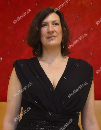 British Mezzo-soprano Sarah Connolly Poses For Photographs During the Presentation of Handel's 'Agrippina' at Gran Teatro Liceo in Barcelona Northeastern Spain 13 November 2013 Spain Barcelona