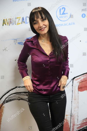 Portuguese Actress and Director Maria De Medeiros Poses For Photographers During the Presentation of Book-record Called 'Avanzadoras' (advanced Women) Promoted by Ong Intermon Oxfam in Madrid Spain 10 March 2015 the Book-record Contains 12 Songs to Pay a Tribute to Women who Run the World Spain Madrid