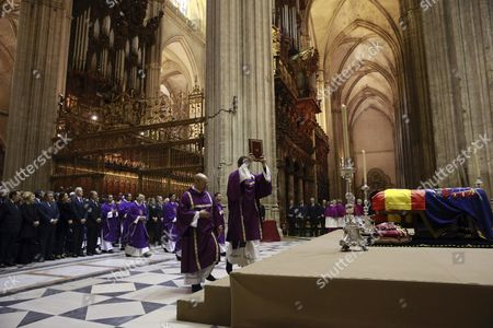 The Coffin of Cayetana Fitz-james Stuart the Duchess of Alba is Displayed During Her Funeral Service at the Cathedral in Seville Spain 21 November 2014 the Spanish Aristocrat Died Aged 88 at Home on 20 November After a Short Illness Spain Seville